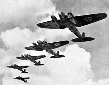 German bombers during the Battle of Britain